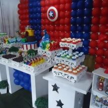 Aniversário tema Capitão América